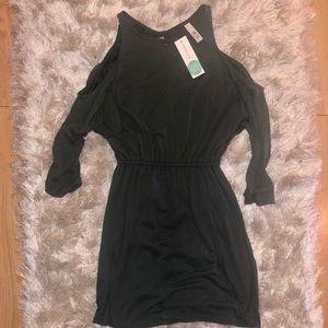 Open shoulder dress